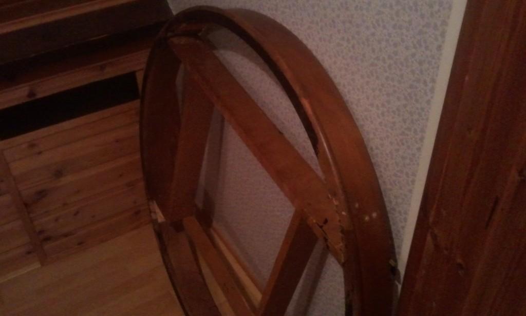 originele lak van de tafelrand